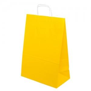 Taška barevná papírová 240x100x320mm - žlutá