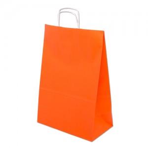 Barevná taška papírová 240x100x320mm - oranžová