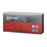 Papírové ubrousky KATRIN Coctail 3-vrstvý - Bordeaux